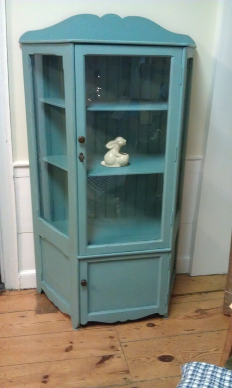 Painted china cabinet simply vintage of cape cod for Chinese furniture for sale cape town