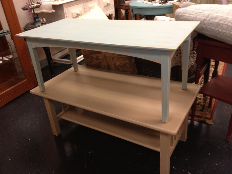 Painted Mission Style Coffee Table And Shaker Style Coffee Table