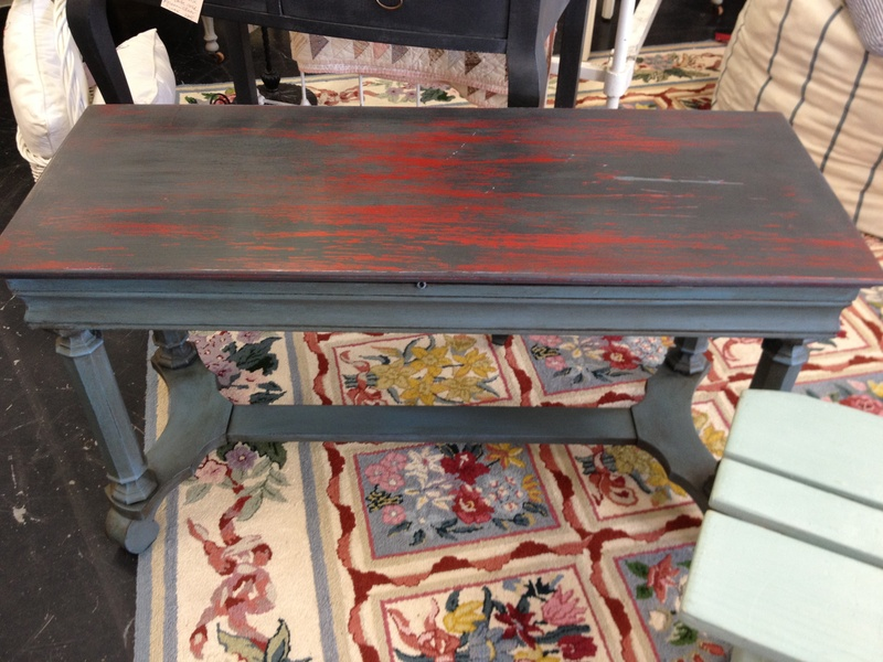 Painted Antique Piano Bench With Layers Of Chalk Paint