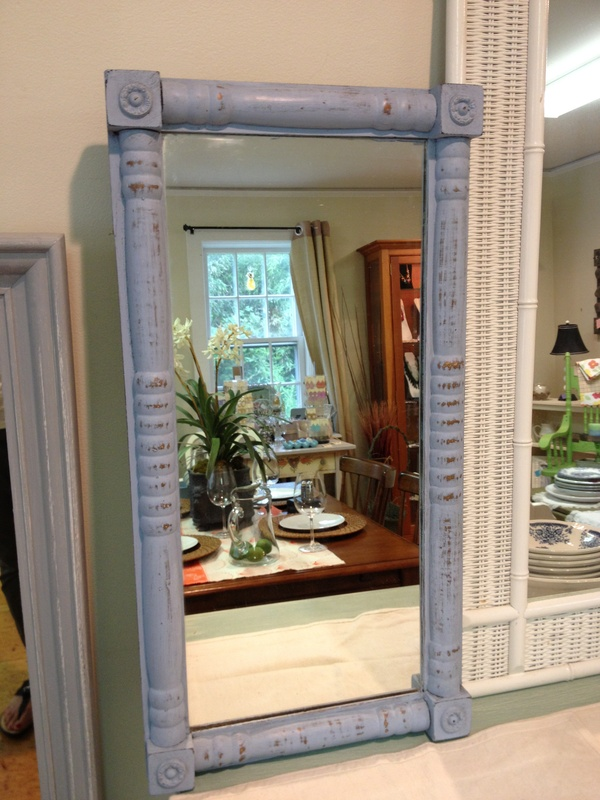 Vintage Mirror Painted