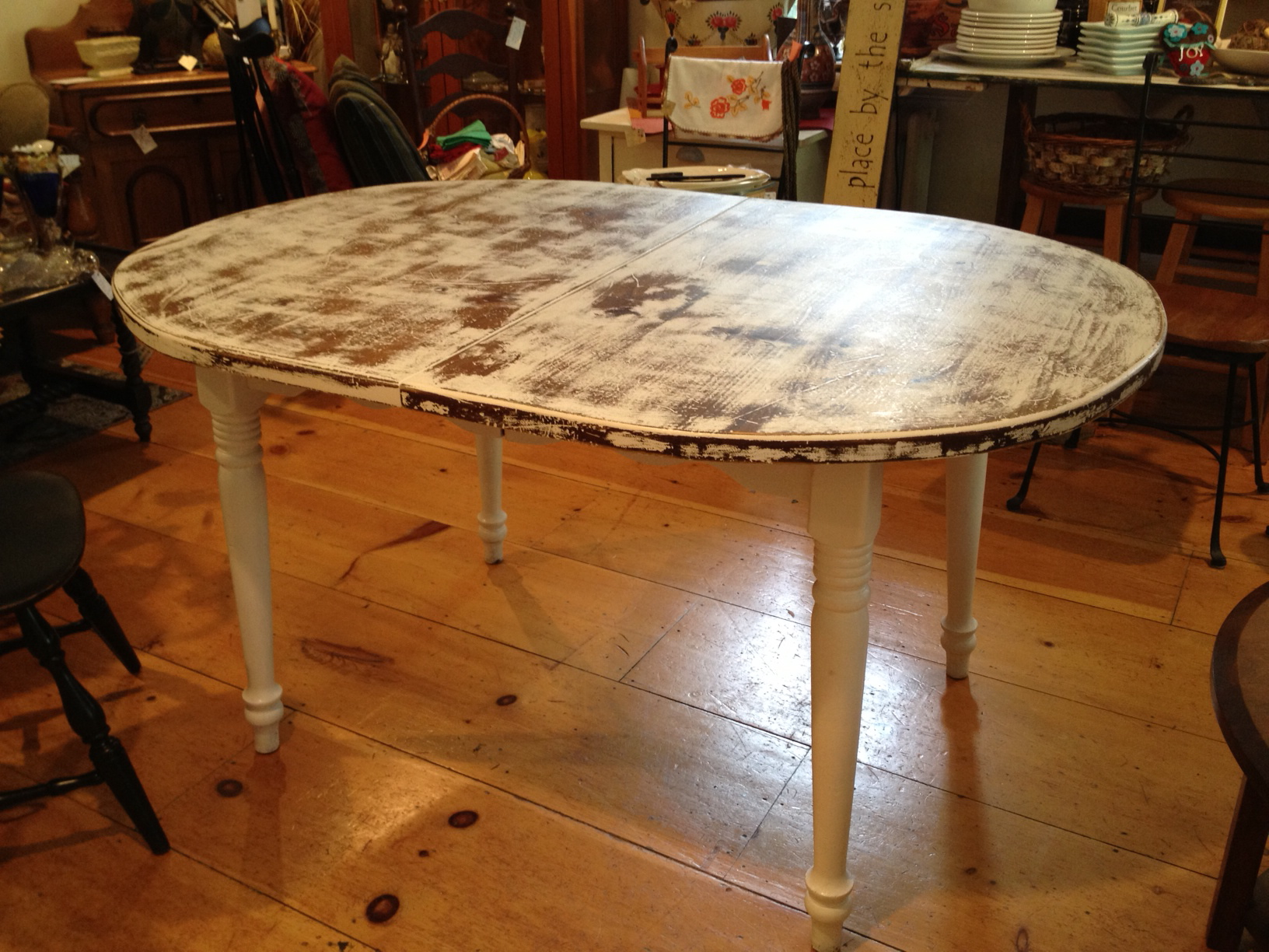 oval dining table with rustic top - Simply Vintage of Cape Cod